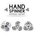 black and white hand spinner fidget toy vector image vector image