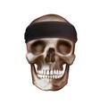 black bandana buff on skull vector image vector image