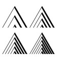 black triangular logo stripes in a modern style vector image