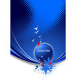blue abstract background with stars image vector image vector image
