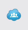Blue cloud team icon vector image