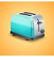 Bright Metal toaster Background vector image vector image