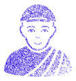 buddhist monk icon grunge watermark vector image vector image