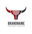 bull head target logo concept vector image vector image