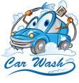 car wash cartoon vector image vector image