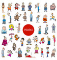 cartoon people characters big set vector image vector image