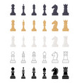 chess game pieces icons set vector image