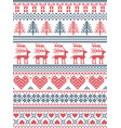 christmas pattern nordic style vector image vector image