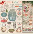 Christmas vintage scrapbook vector | Price: 3 Credits (USD $3)