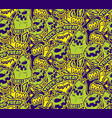 color halloween seamless pattern vector image vector image