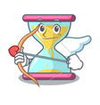 cupid character hourglass concept for business vector image