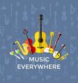 digital blue music instruments vector image vector image