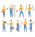 engineers and designers for building construction vector image vector image