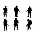 equipped military with weapons vector image vector image