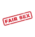 Fair Sex Text Rubber Stamp vector image vector image