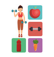 female athlete practicing exercise vector image
