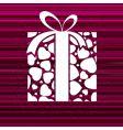 gift box and stars vector image