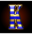golden and blue letter k vector image vector image