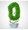 Green foliage houseplant alphabet Figures vector image vector image