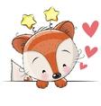Greeting card cute Fox vector image vector image