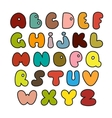 hand drawn alphabet made