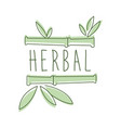 herbal logo symbol