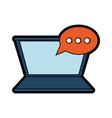laptop and speech bubbles design vector image