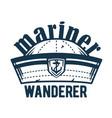 marine sailor cap and hat nautical sea emblem vector image vector image