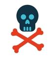 mask skull bones danger symbol icon
