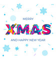 merry xmas christmas happy new year poster vector image vector image