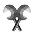 mexican maraca instrument icon vector image vector image