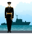 Military Uniform Navy sailor-8 vector image vector image