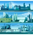 Modern Cityscapes Banners vector image vector image
