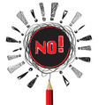 no red pencil idea on white isolate background vector image vector image