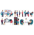office workers meeting and coffee break business vector image
