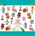 one of a kind game with cartoon characters vector image vector image