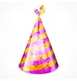 Party hat on white vector image vector image