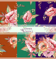 pattern sumer romanse vector image vector image
