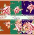 pattern sumer romanse vector image vector image