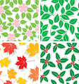 Patterns of four seasons vector image vector image