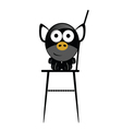 piggy in the chair vector image vector image