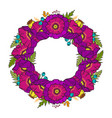 poppy wreath isolated on white vector image vector image