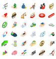quality icons set isometric style vector image vector image