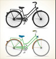retro vintage bicycle silhouette isolated on vector image vector image
