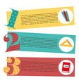 school elements design vector image