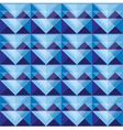 Seamless blue triangle pattern design vector image