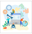 seo optimization team work concept vector image vector image