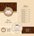 set design elements for coffee house in flat vector image vector image