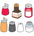 set of condiment bottles vector image