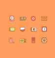 set simple line icons computer upgrading vector image vector image